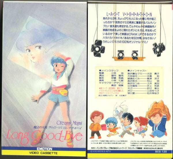 VHS Japan - OVA - Long goodbye - 1st edition