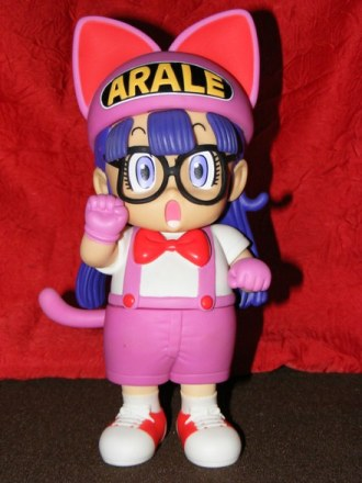 Arale en chat rose